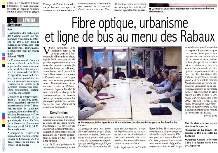 Courrier des Yvelines ligne 19 au menu des Rabaux