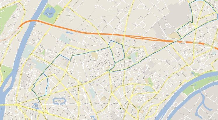 Plan Vésinet élargi plan ligne 19 actuelle